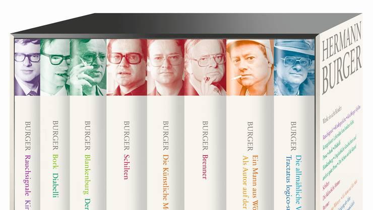 25 Jahre nach Hermann Burgers Tod ist sein publiziertes Werk erstmals in einer Werkausgabe greifbar – von den frühen Gedichten bis zu den letzten Romanen.