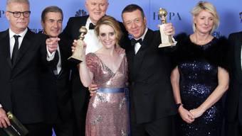 Seit Jahren ein gewohntes Bild: Mit der Kleiderfarbe Schwarz können die Männer an den diesjährigen Golden Globes kaum ein Zeichen setzen. (Archivbild)