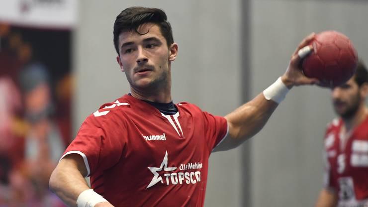 Claudio Vögtli muss sich mit dem TVE gegen Pfadi Winterthur geschlagen geben.