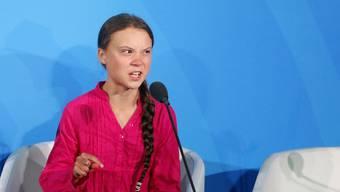 Greta an Klima-Gipfel in New York September 2019