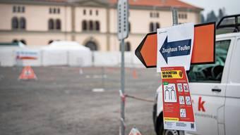 Covid-19-Teststrasse in Teufen AR: Um Test-Tourismus zu verhindern, sind nur die Bewohner der beiden Halbkantone zugelassen.