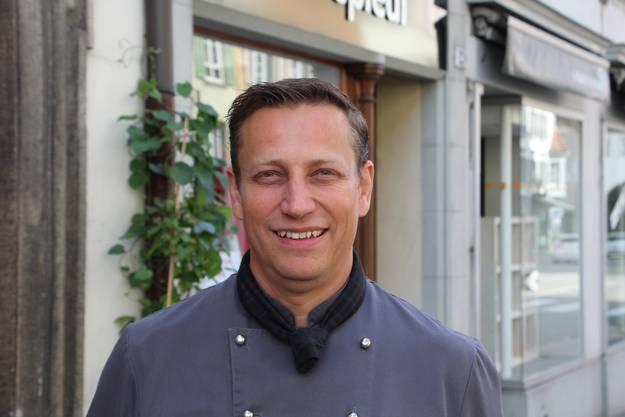 Küchenchef Robin Dürlewanger. Das Restaurant erhielt 13-Gault-Millau-Punkte, einen weniger als im Vorjahr.