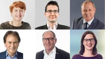 Die sechs Grenchner Kantonsräte Nicole Hirt (glp), Richard Aschberger (SVP), Peter Brotschi (CVP), Hubert Bläsi (FDP), Remo Bill (SP) und Angela Kummer (SP).