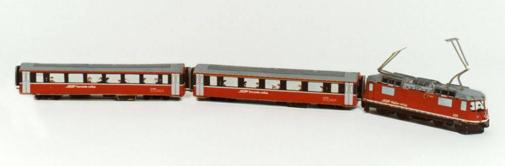 Die «Rhätische Bahn» war nicht nur in Graubünden beliebt. (Bild: zVg)