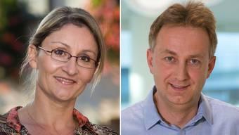 Sibylle Lüthi  und Rolf Baumgartner, Präsident der FDP-Ortspartei