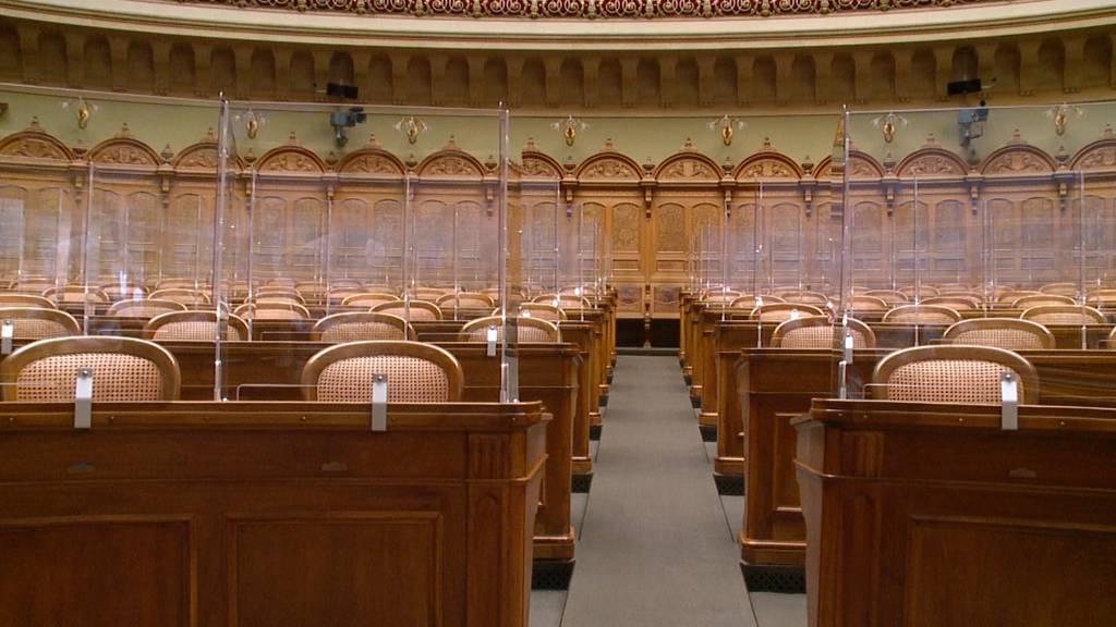 Bundeshaus wird zum Plexiglaspalast