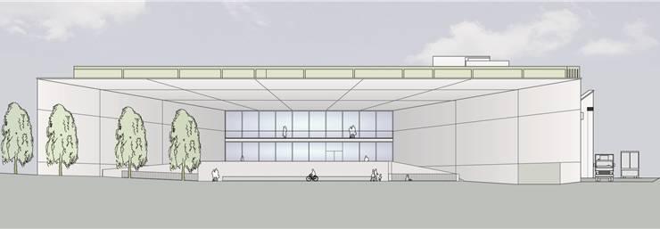 Eine Visualisierung aus dem Jahr 2012: Blick von Westen auf die geplante Mall des Coop-Einkaufscenters auf dem Kofmehlareal (Richtprojekt).