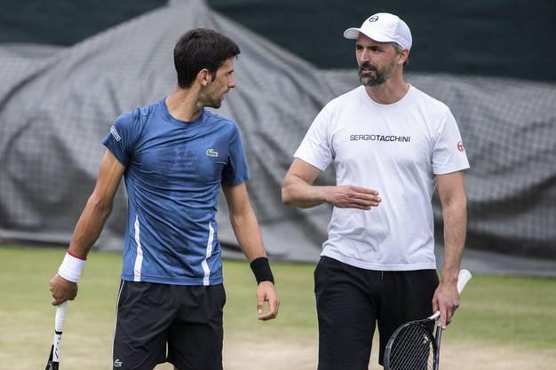 Goran Ivanisevic gehört seit Wimbledon 2019 zu Novak Djokovics Betreuerstab und steht wohl hinter der Absetzung des Strategie-Pioniers.