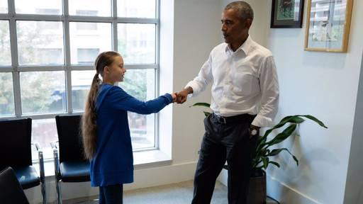 «Fist Bumping» mit Ex-US-Präsident Obama