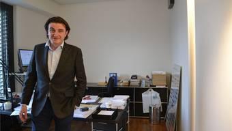Curdin Janett, CEO der Kommunikationsagentur Publicis, in seinem Büro in Zürich.