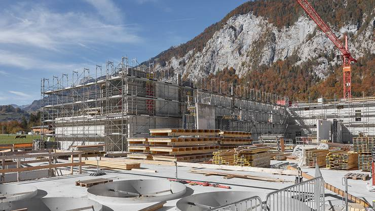 So sieht es auf der Baustelle der Naturparkkäserei derzeit aus.