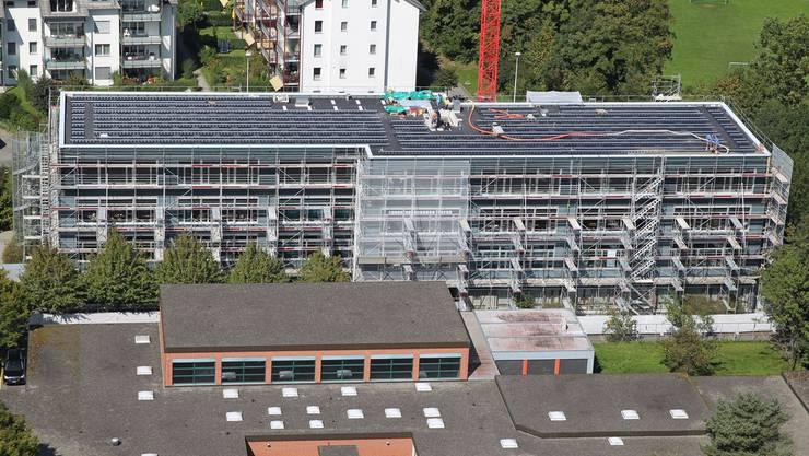 Primarschule Telli im Bau bei der Aufstockung.
