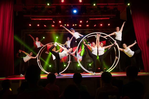DTV am Röhnrad: Immer neue Ideen und spezielle Sportarten sind keine Seltenheit an unserer Turnershow.