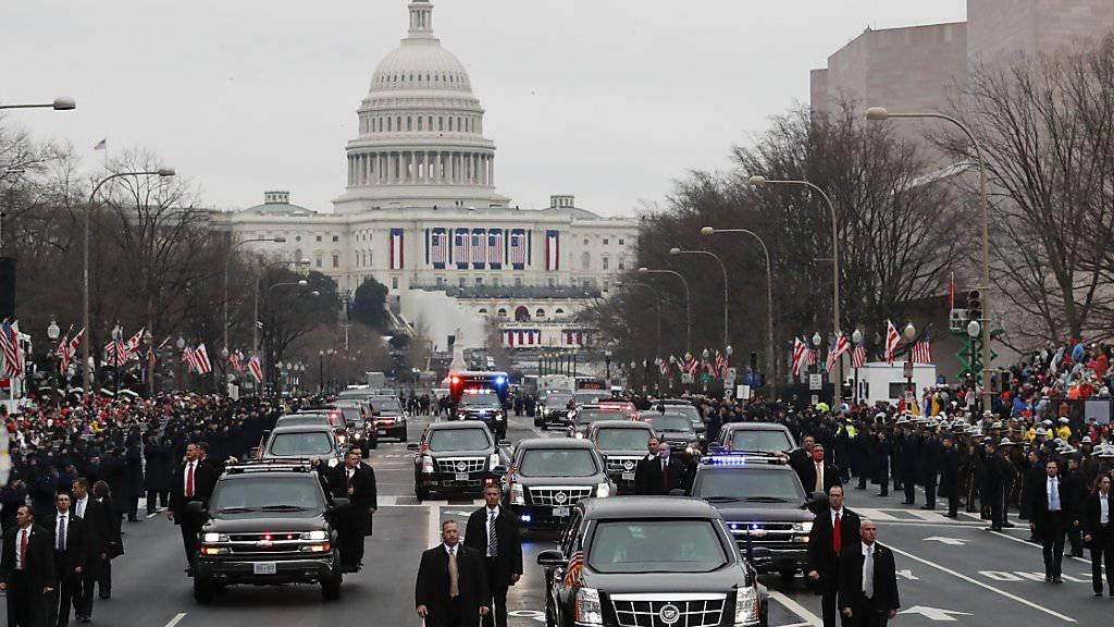 Wenige Tage vor der Vereidigung von US-Präsident Donald Trump am 20. Januar war in Washington ein Grossteil der Überwachungskameras wegen eines Hackerangriffs ausgefallen. (Archivbild)