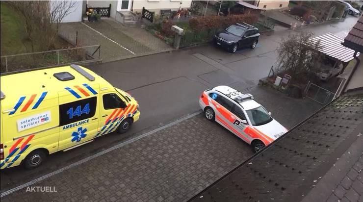 Ambulanz und Polizei am Samstagmorgen vor Ort