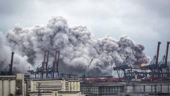 Die Giftwolke über dem brasilianischen Hafen Guaruja.