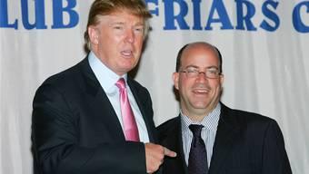 Einst Freunde, jetzt Gegner: Donald Trump und Jeff Zucker im Oktober 2004.
