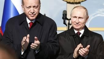 Erdogan (l.) und Putin: Partner und Widersacher.