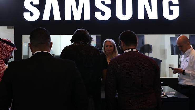 Samsung-Informationsstand an einer Verkaufsmesse in Dubai. (Archivbild)