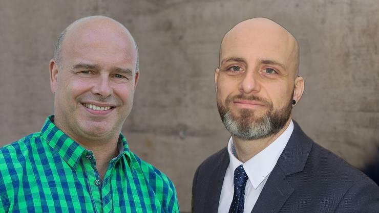 Peter Schödler (links) gewann das Rennen um das Amt des Vizeammanns, Stefan Weill wurde neu in den Gemeinderat gewählt.