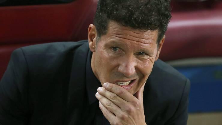 Ein nachdenklicher Atletico-Trainer: Diego Simeone