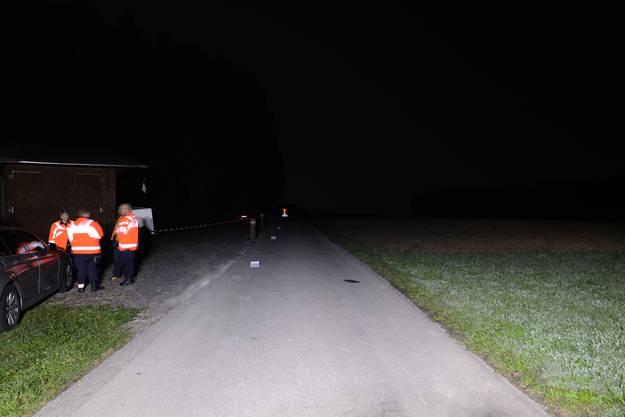 Der Unfallort in Aesch bei Birmensdorf.