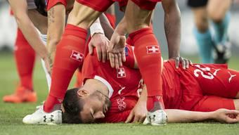 Fabian Schär erlitt im Auswärtsspiel gegen Georgien eine Kopfverletzung - und spielte dennoch weiter.