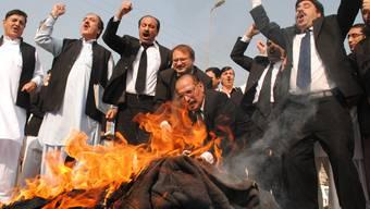Antiamerikanische Proteste in Pakistan
