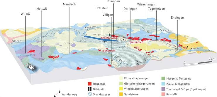 Geologische Karte aus dem Buch «Stein und Wein».  Karteninhalt: Willi Finger, Grafik: Gregor Zographos