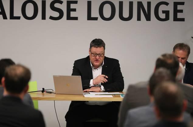 Präsident Marc Thommen an der EHCO-GV.
