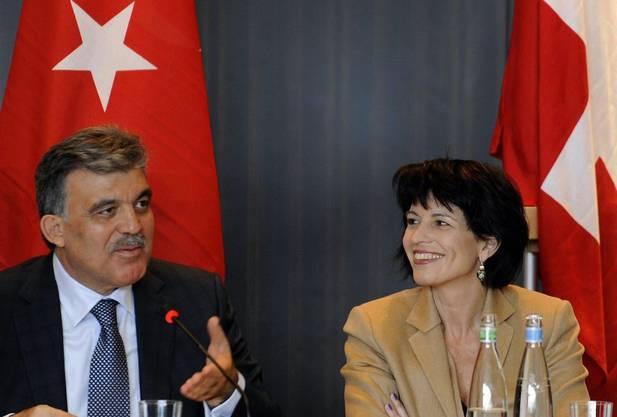 Abdullah Gül und Doris Leuthard