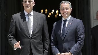 Aussenminister Ignazio Cassis hat am Mittwoch in Athen den diese Woche ernannten griechischen Aussenminister Nikos Dendias getroffen.
