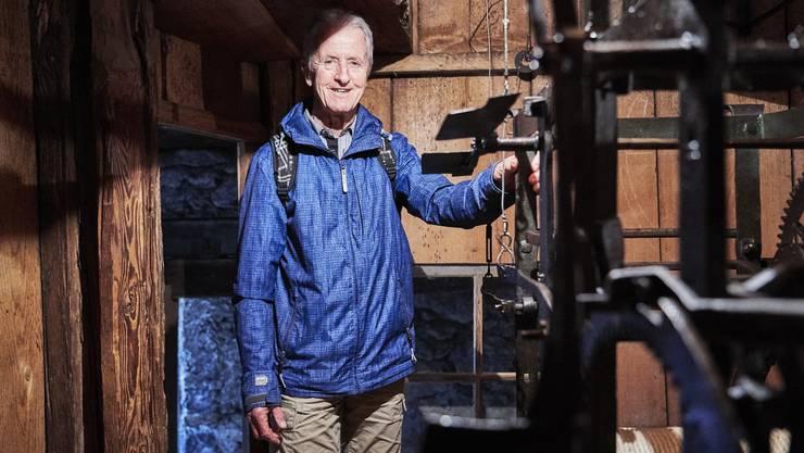 Oberturm-Uhrwächter WernerZiswiler feiert sein 40-jähriges Jubiläum.