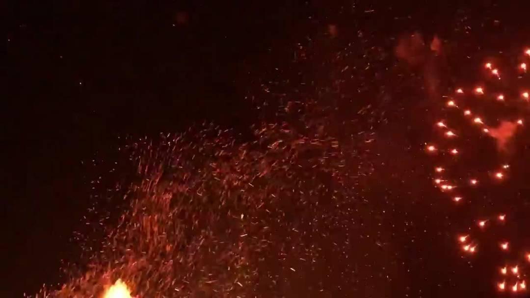 So schön war das Mittefasten-Feuerwerk