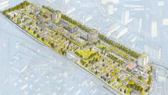 Die Gegner der Überbauung an der Stadtzürcher Thurgauerstrasse stören sich an dieser Visualisierung.