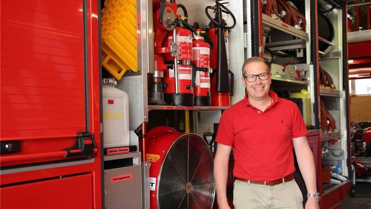 Ist seit 2014 Kommandant: Daniel Wernli (39).