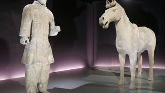 Soldat mit Pferd - Terrakottakrieger aus China sind derzeit im Bern zu bestaunen
