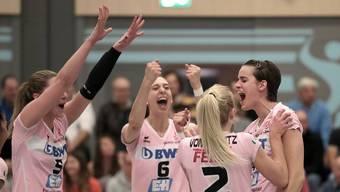 Sm'Aesch Pfeffingen steht nach dem klaren Sieg gegen Schaffhausen im Playoff-Final.