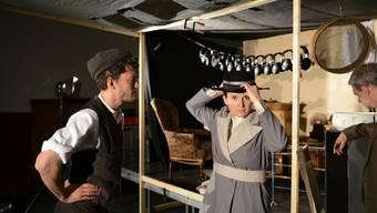 Robert (Andrin Schenardi) und Marie (Barbara Heyn): Heute Abend ist Premiere im Stadtmuseum Aarau.