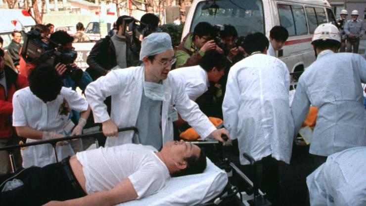 Bei einer Nervengift-Attacke von Terroristen in der U-Bahn von Tokio 1995 wurden 14 Menschen getötet und über 6000 verletzt. (Archivbild)