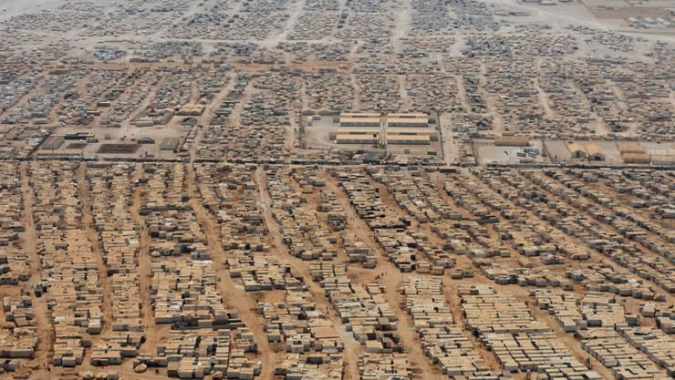 Riesiges Flüchtlingslager in Jordanien: Rund 8,6 Millionen Menschen sind im vergangenen Jahr wegen eines Konflikts im eigenen Land geflohen. (Archivbild)