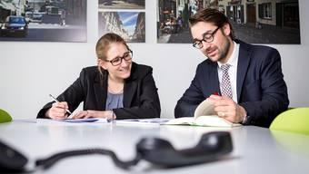 Unsere Spezialisten Michaela Burgherr vom VZ VermögensZentrum und Thomas Schwab von der BDO AG berieten Dutzende von az-Leserinnen und az-Leser.