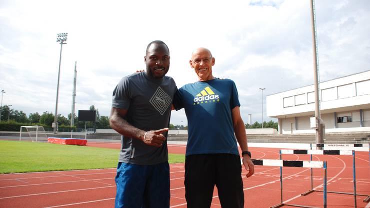 Zwei wie Pech und Schwefel: Alex Wilson und Trainer Christian Oberer.