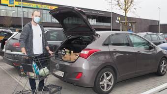 Tobias Pümpin aus Wallbach kauft gerne in Bad Säckingen seine Lebensmittel ein.