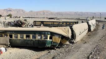 Der bei Quetta entgleiste Zug