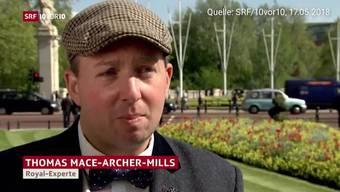 Unzählige Medien haben Thomas J. Mace Archer-Mills zum Royal Wedding interviewt. Auch das SRF. Jetzt stellt sich heraus: Er ist kein Brite - wie viele angenommen haben. Sondern Tommy aus den USA.