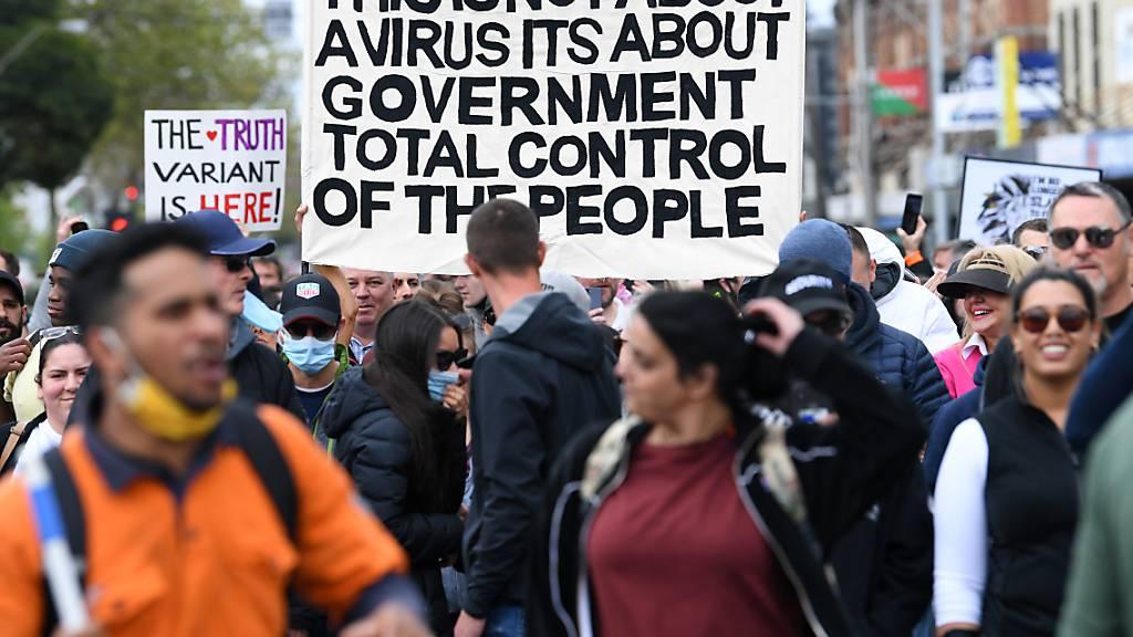 Australien: Festnahmen und Verletzte bei Demos gegen Corona-Massnahmen