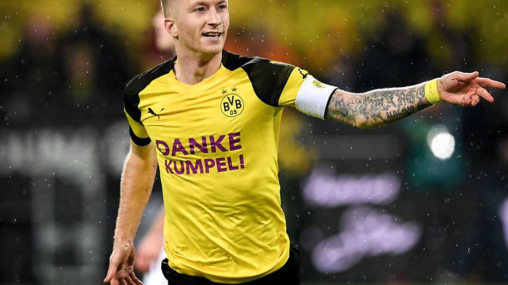 Dortmunds Captain Marco Reus erzielte in seinem 250. Bundesliga-Spiel das 2:1