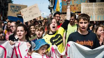 Die Klimastreiks mobilisierten die Jugendlichen in der Schweiz. Wie im Bild in Lausanne demonstrierten sie in Scharen.