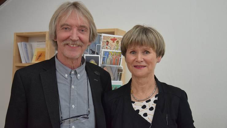 Der neue Präsident des Kunstvereins, Christoph Schelbert und seine Vorgängerin Gabriela Bono.
